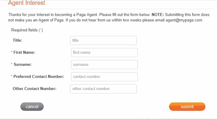 how to become a Paga agent