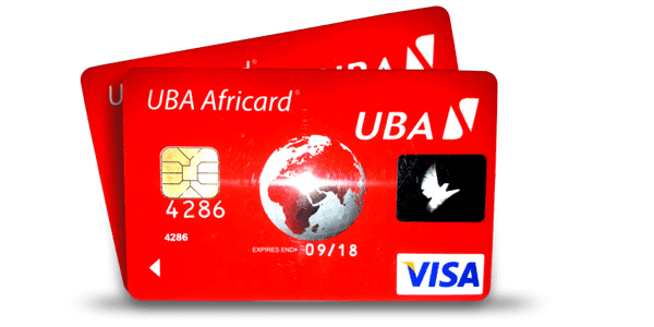 uba africard international low uba prepaid card